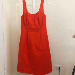 J crew cotton shift dress in orange | size 0